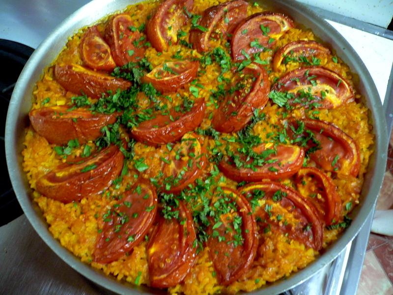tomato paella